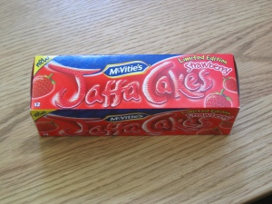Maybe? Maybe not? The strawberry jaffa cake.