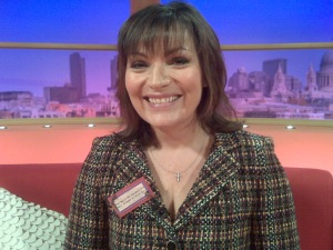 Lorraine Kelly sports Knitty Kitty's brooch